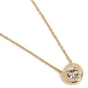  COACH GOLD OPEN CIRCLE STONE STRAND NECKLACE